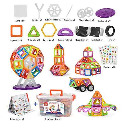 110-pcs-Magnetic-tiles-Magnetic-Blocks-Building-kids-educational-toys-0-0