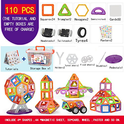 110-pcs-Magnetic-tiles-Magnetic-Blocks-Building-kids-educational-toys-0