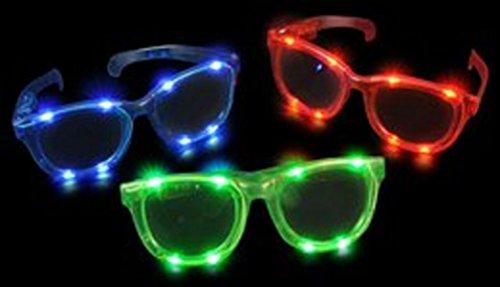 38b311de37ea ... Up Party Glasses Shades. 12-Pairs-of-LED-HUGE-JUMBO-Flashing-Light-