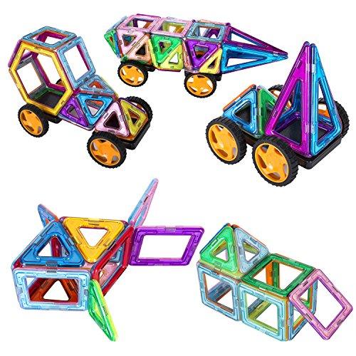 133-Pieces-Magnetic-BlocksMagnetic-Building-Blocks-Toys-SetKuloe-Kids-Magnetic-Toys-Educational-Building-Tiles-Blocks-0-2