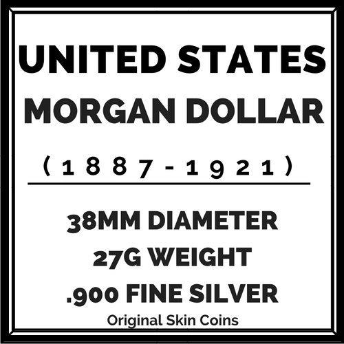 1880 1901 U S Morgan Silver Dollar Coin Very Good