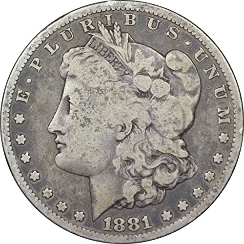1880 1901 U S Morgan Silver Dollar Coin Very Good