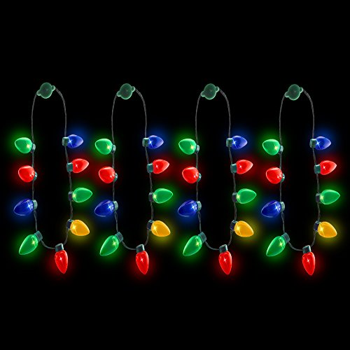 20 pack light up christmas bulb necklaces wholesale