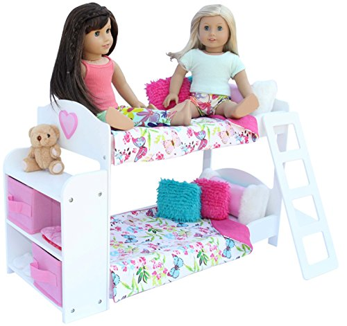 20 Pc Doll Bedroom Set For 18 Inch American Girl Doll