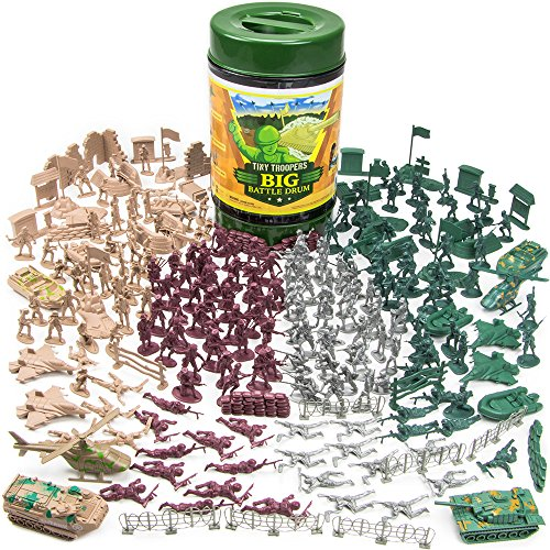 260-Piece-Tiny-Troopers-Big-Battle-Drum-Army-Man-Playset-with-Vehicles-Provisions-and-Playmat-by-Imagination-Generation-0-0