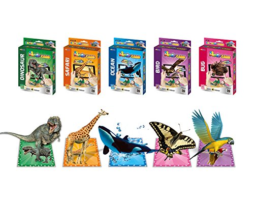 3D-POPUP-Card-Animal-Augmented-Reality-AR-Card-50-Pcs-of-Childrens-4D-Flash-Cards-Dinosaur-Safari-Ocean-Birds-Bugs-Interactive-Learning-Toy-5-Pack-Set-0-1