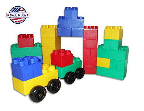40pc-Jumbo-Blocks-Big-City-Playset-with-Wheels-0-0