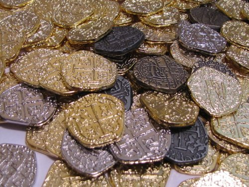 500-Pirate-Coins-Gold-and-Silver-Doubloon-Replicas-in-0