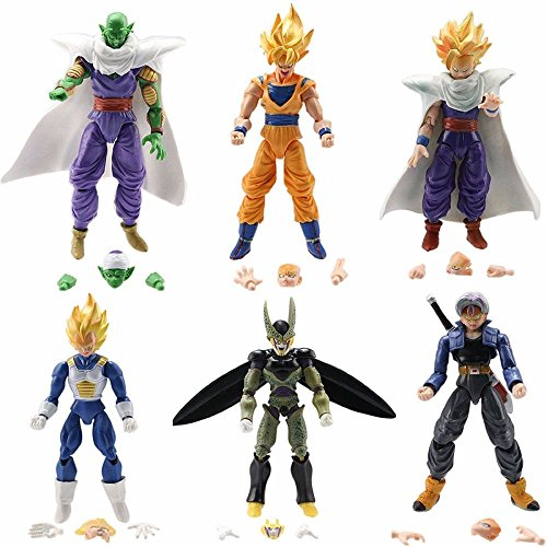 6x-Dragon-Ball-Z-5-Figures-Piccolo-Cell-Trunks-Super-Saiyan-Goku-Gohan-Vegeta-0