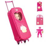 8-Piece-Doll-Traveling-Trolley-Set-fits-18-American-girl-Doll-Including-Pajamas-Sleeping-Bag-Doll-Not-Included-0