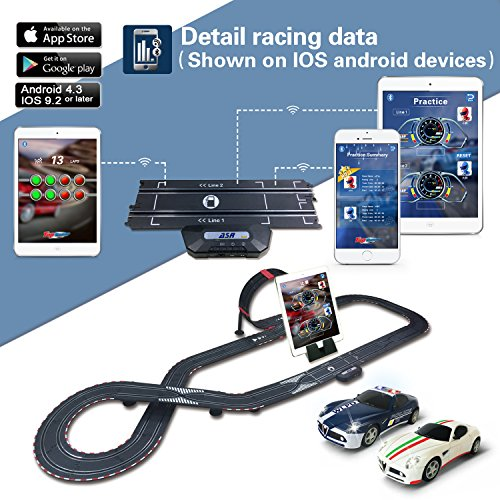 AGM slot car set with racing assistant APP No ASR-01 1:43 scale | Hobby  Leisure Mall