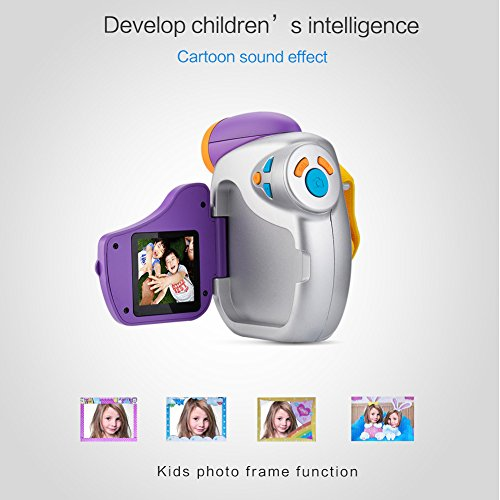 amkov kids creative camera with flash led display