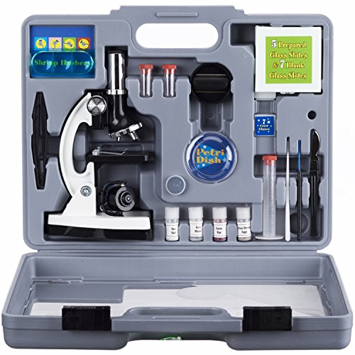 AMSCOPE-KIDS-M30-ABS-KT2-W-Microscope-Kit-with-Metal-Arm-and-Base-6-Magnifications-from-20x-to-1200x-Includes-52-Piece-Accessory-Set-and-Case-Awarded-The-2016-Top-Pick-of-Microscopes-For-Beginners-0