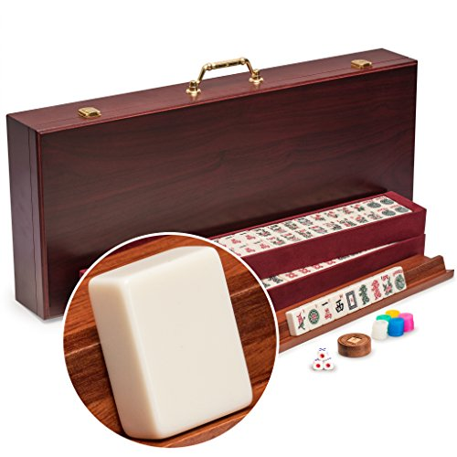 American-Mahjong-Mah-Jongg-Mahjongg-166-Tiles-Set-with-Racks-and-Accessories-The-Classic-0