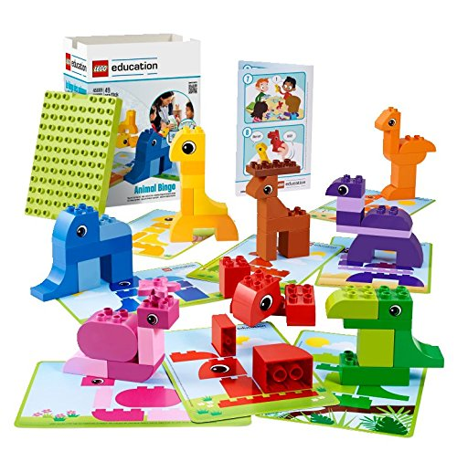 Animal-Bingo-Game-for-Shape-and-Color-Recognition-by-LEGO-Education-DUPLO-0