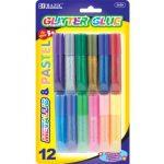 BAZIC-6ml-Assorted-Color-Mini-Glitter-Glue-12Pack-0
