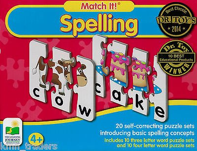 BUNDLE-OF-4-learning-Journey-Match-It-Spelling-20-Self-Correcting-Puzzle-Sets1-Stuffed-Animal-Elephant-1-Little-People-Compare-Contrast-Flash-Cards-Plus-1-Alphabet-Learning-Flash-Cards-0