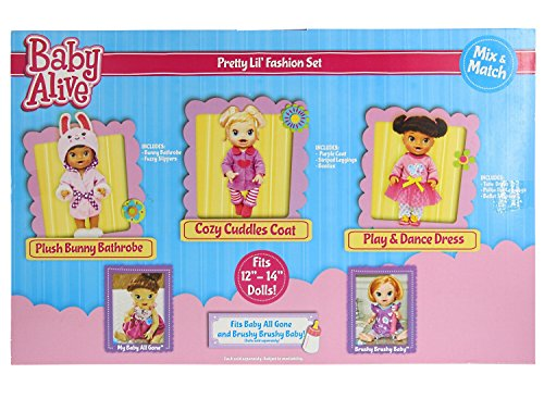 Baby-Alive-Pretty-Lil-Fashion-Clothing-Set–Features-3-Outfits-Makes-Perfect-Accessories-for-your-12-14-Dolls-0-0
