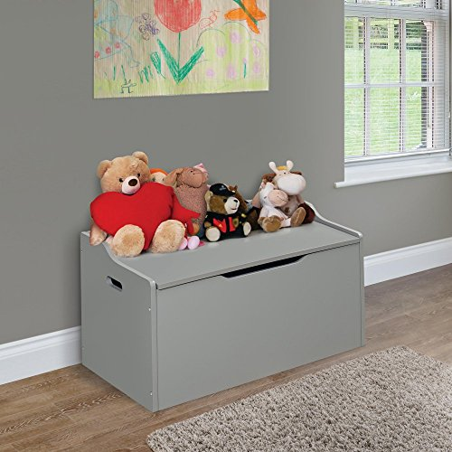 Badger Basket Gray Bench Top Toy Chest Hobby Leisure Mall