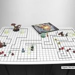 Battle Grid Game Mat – 36″ x 24″ – 1 Inch Role Playing DnD Map