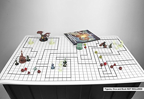 Battle Grid Game Mat 36 X 24 1 Inch Role Playing Dnd