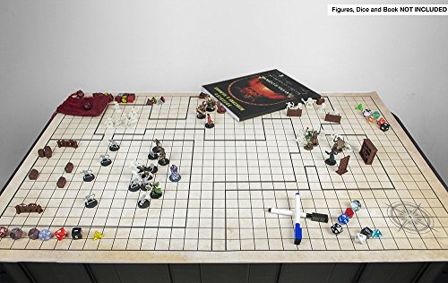 Battle Grid Game Mat 36 X 24 Table Top Role Playing