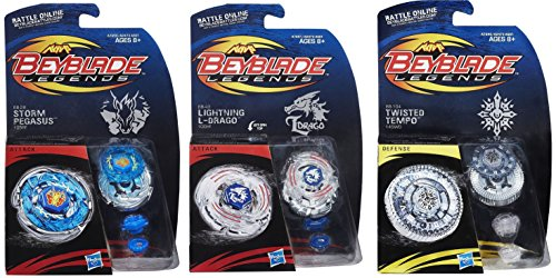 Beyblade-Legends-BB-104-Twisted-Tempo-145WD-Top-BB-28-Storm-Pegasus-105RF-Top-BB-43-Lightning-L-Drago-L100HF-Tops-Bundle-0