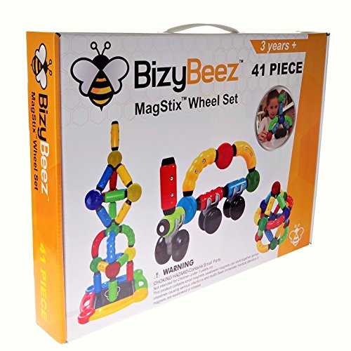 BizyBeez MagStix Wheel Set, 41 Pieces :: Sensory Magnetic