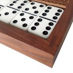 Cabin-Club-Classic-Domino-Set-with-Black-Walnut-Case-Premium-Quality-28-Indestructible-Double-Six-Dominoes-0-1