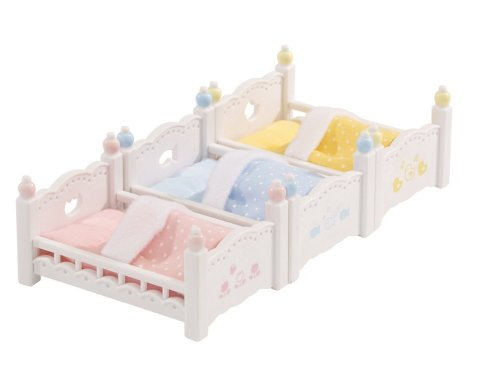 Calico Critters Living Room | Calico Critters Bunk Beds Triple Bunk And Living Room Set Hobby