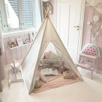 Canvas-Kids-Teepee-Children-Play-Tent-with-Mat-Carry-Case-for-Indoor-Outdoor-Raw-Whiteby-Tiny-Land-0-0