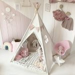 Canvas-Kids-Teepee-Children-Play-Tent-with-Mat-Carry-Case-for-Indoor-Outdoor-Raw-Whiteby-Tiny-Land-0