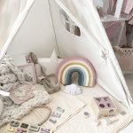 Canvas-Kids-Teepee-Children-Play-Tent-with-Mat-Carry-Case-for-Indoor-Outdoor-Raw-Whiteby-Tiny-Land-0-2