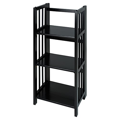 Casual-Home-3-Shelf-Folding-Bookcase-14-Wide-White-0
