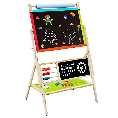 Cheerwing Wooden Standing Art Easel With Whiteboard
