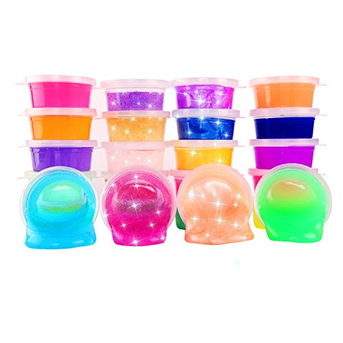 Chige-24Pcs-Clay-Toys-488-OZ-Jumbo-Transparent-Magic-Plasticine-Slimes-Stress-Relief-Toy-Sludge-Toy-for-Kids-and-Adults-Super-Soft-and-Non-sticky-24-color-set-crystal-mud-0