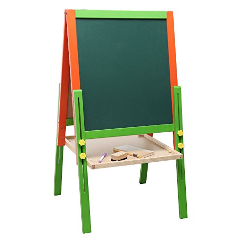 Children S Wood Double Sided Art Amp Activity Easel With