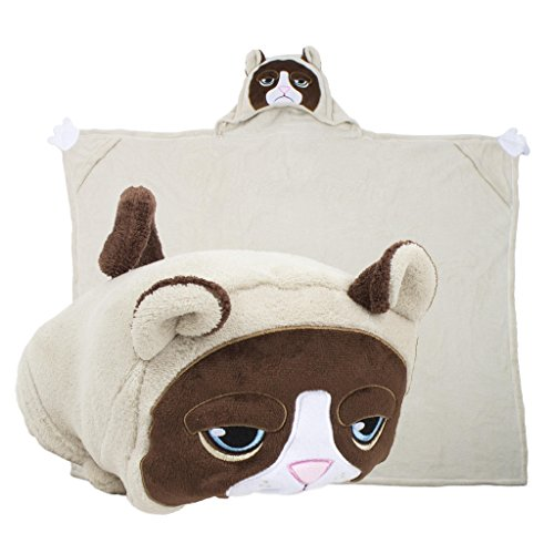 Comfy Critters Stuffed Animal Blanket Grumpy Cat Kids