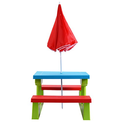 Costzon-Easy-Store-Large-Picnic-Table-with-Umbrella-Garden-Yard-Folding-Children-Bench-Outdoor-by-Costzon-0-0