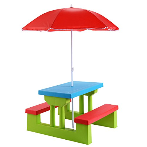 Costzon-Easy-Store-Large-Picnic-Table-with-Umbrella-Garden-Yard-Folding-Children-Bench-Outdoor-by-Costzon-0