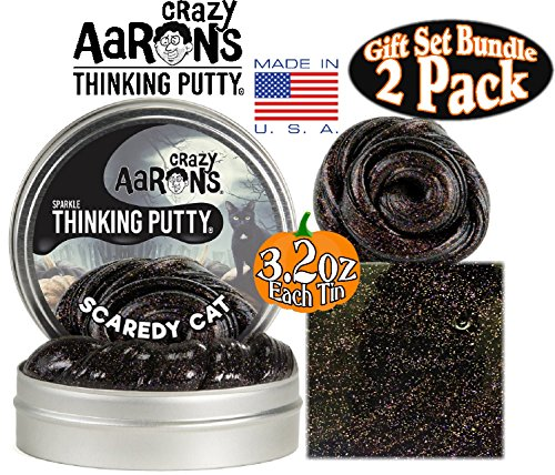 Crazy-Aarons-Thinking-Putty-Halloween-Scaredy-Cat-Jack-O-Lantern-Glow-in-the-Dark-with-Blacklight-Charger-Gift-Set-Bundle-with-Exclusive-Mattys-Toy-Stop-Storage-Bag-2-Pack-0-0