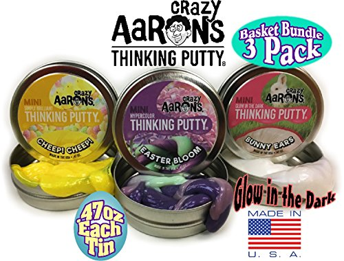 Crazy-Aarons-Thinking-Putty-Mini-Tins-Easter-Bloom-Hypercolor-Bunny-Ears-Glow-in-the-Dark-Cheep-Cheep-Simply-Brilliant-Easter-Basket-Bundle-3-Pack-0