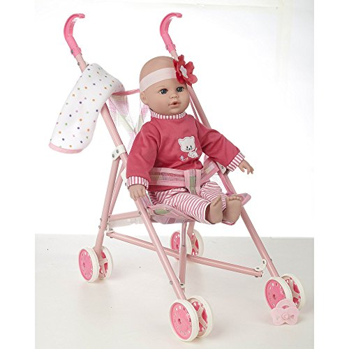 Cuddly-Love-16-Baby-Doll-and-Stroller-Set-Girl-toys-age-3-and-up-0-0