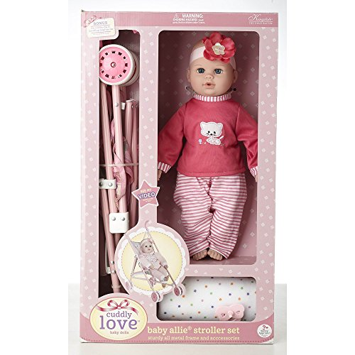 Cuddly-Love-16-Baby-Doll-and-Stroller-Set-Girl-toys-age-3-and-up-0