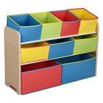 Delta-Children-Deluxe-Multi-Bin-Toy-Organizer-with-Storage-Bins-WhitePink-0