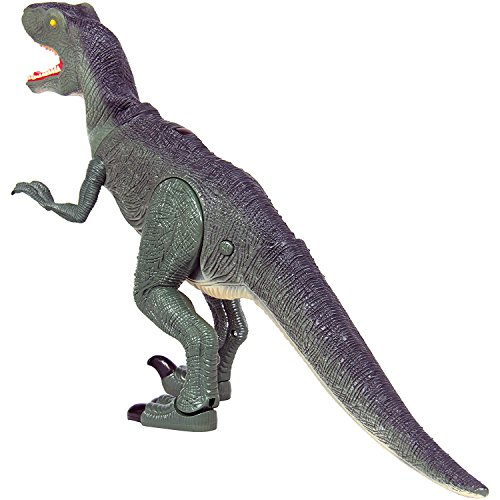Dino-Planet-Remote-Control-Velociraptor-RC-Walking-Dinosaur-Toy-with-Shaking-Head-Light-Up-Eyes-and-Sounds-0-1