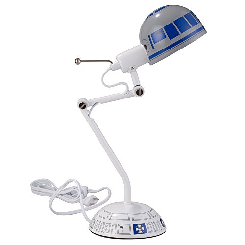star wars desk accessories with lamp   Disney 12213 Star Wars Desk Lamp, White/Blue, 17″   Hobby ...