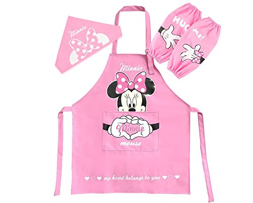 Disney-Mickey-Mouse-Minnie-Mouse-Kids-Artist-Apron-Sleeve-Hat-Set-Parallel-ImportGeneric-Product-0-0