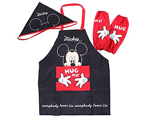 Disney-Mickey-Mouse-Minnie-Mouse-Kids-Artist-Apron-Sleeve-Hat-Set-Parallel-ImportGeneric-Product-0