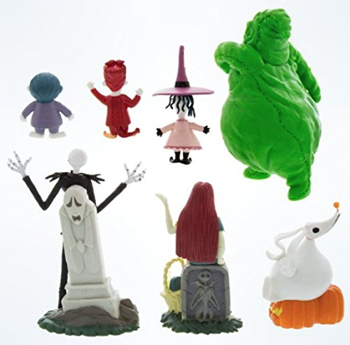 Disney-Parks-Exclusive-Jack-Skellington-Nightmare-Before-Christmas-7-Pc-Figurine-Playset-0-0